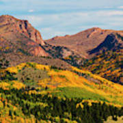 Fall Colors On The North Face Of Pikes Peak Art Print