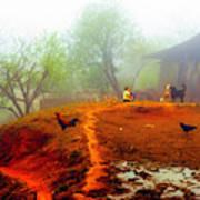Family On A Hill In Sapa, Vietnam Art Print