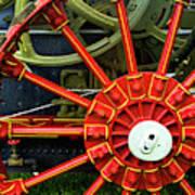 Fancy Tractor Wheel Art Print