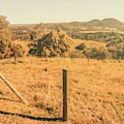 Farm Fields Of Eumundi, Sunshine Coast Art Print