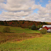 Farmland In Autumn Art Print