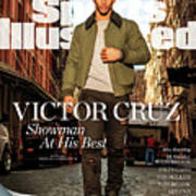 Fashionable 50 New York Giants Wide Receiver Victor Cruz Sports Illustrated Cover Art Print