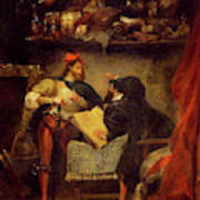 Delacroix Reproduction Mephistopheles in the Air Fine Art Print