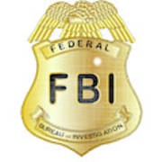 Fbi Badge Art Print