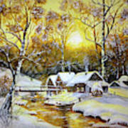 Feerie Winter Art Print