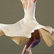 Female Ballet Dancer Dancing Art Print