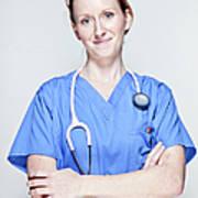 Female Doctor Art Print
