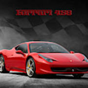 Ferrari 458 Art Print