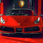 Ferrari Red Art Print
