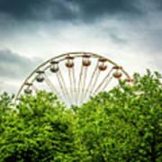 Ferris Wheel Behind Trees Art Print