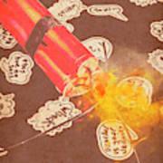 Fiery Fuse Art Print