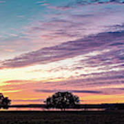 Fiery Sunset Over Canyon Lake - Comal County - Central Texas Hill Country Art Print