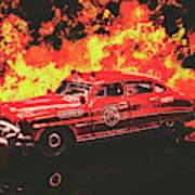 Fire Hornet Art Print