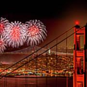 Firework At San Francisco, California Art Print