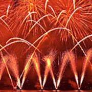 Fireworks Over West Lake, Hangzhou Art Print