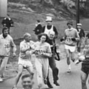 First Women In Boston Marathon Art Print