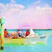 Fishing Bandit Art Print