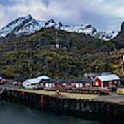 Fishing Village A On Lofoten Art Print