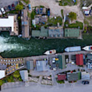 Fishtown Dam Panorama From Above Art Print