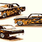 Flamin Chevrolet 66 Nova Art Print