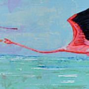 Flamingoes For Audrey Art Print