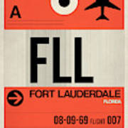 Fll Fort Lauderdale Luggage Tag I Art Print