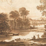 Floodplain With Watering Place  C  Art Print