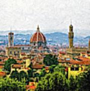 Florence Impasto Art Print
