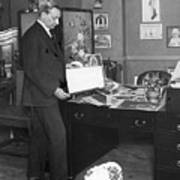 Florenz Ziegfeld Looking At Photographs Art Print