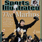 Florida Marlins Josh Beckett, 2003 World Series Sports Illustrated Cover Art Print