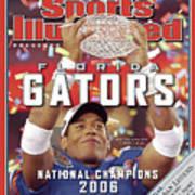 Florida Qb Chris Leak, 2007 Bcs National Championship Game Sports Illustrated Cover Art Print