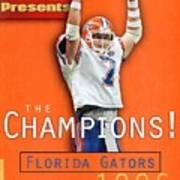 Florida Qb Danny Wuerffel, 1997 Sugar Bowl Sports Illustrated Cover Art Print