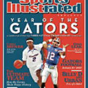 Floridas Corey Brewer And Qb Chris Leak, Florida Gators Sports Illustrated Cover Art Print