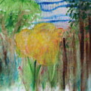 Flowers In A Forest Art Print