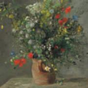 Flowers In A Vase, Circa 1866 Art Print