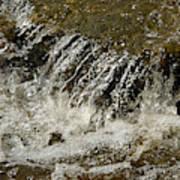 Flowing Water Over Rocks Art Print