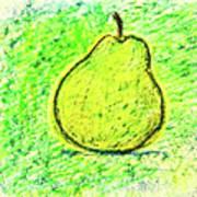 Fluorescent Pear Art Print