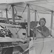 Flyer In Aircraft Cockpit Art Print
