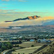 Fog Over Squaw Butte Art Print