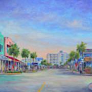 Folly Beach Center Street Art Print