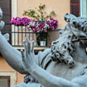 Fontana Dei Quattro Fiumi Art Print