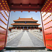 Forbidden City In Beijing , China Art Print