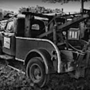 Ford F4 Tow The Truck Business End Black And White Art Print