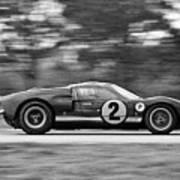 Ford Prototype Racecar On Track Art Print