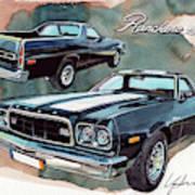 Ford Ranchero 500 Art Print