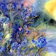 Forget-me-not Watercolor Art Print