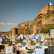 Fort Mehrangarh And Old Town In Jodhpur Art Print