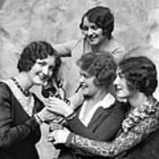 Four Smiling, Marcel-waved Women. One Art Print