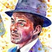 Frank Sinatra Singing Art Print