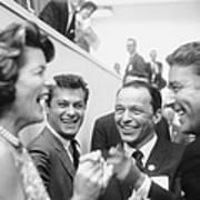 Frank Sinatrapeter Lawford & Wifetony Art Print
